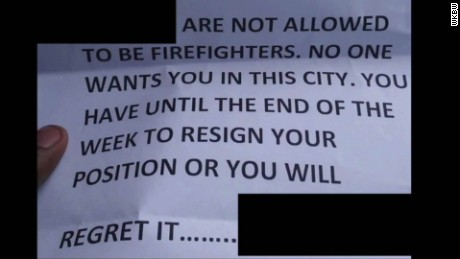 firefighters home burns after receiving racist threat pkg _00002514