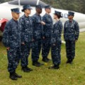 Blue camouflage Navy uniform