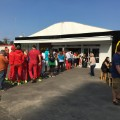 olympic village mcdonalds queue