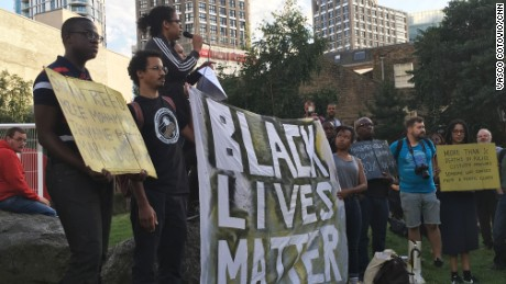 Protesters' outrage occurs only when black people are killed in the United States, Vava Tampa says.