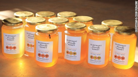 Honey produced by beehive fences.