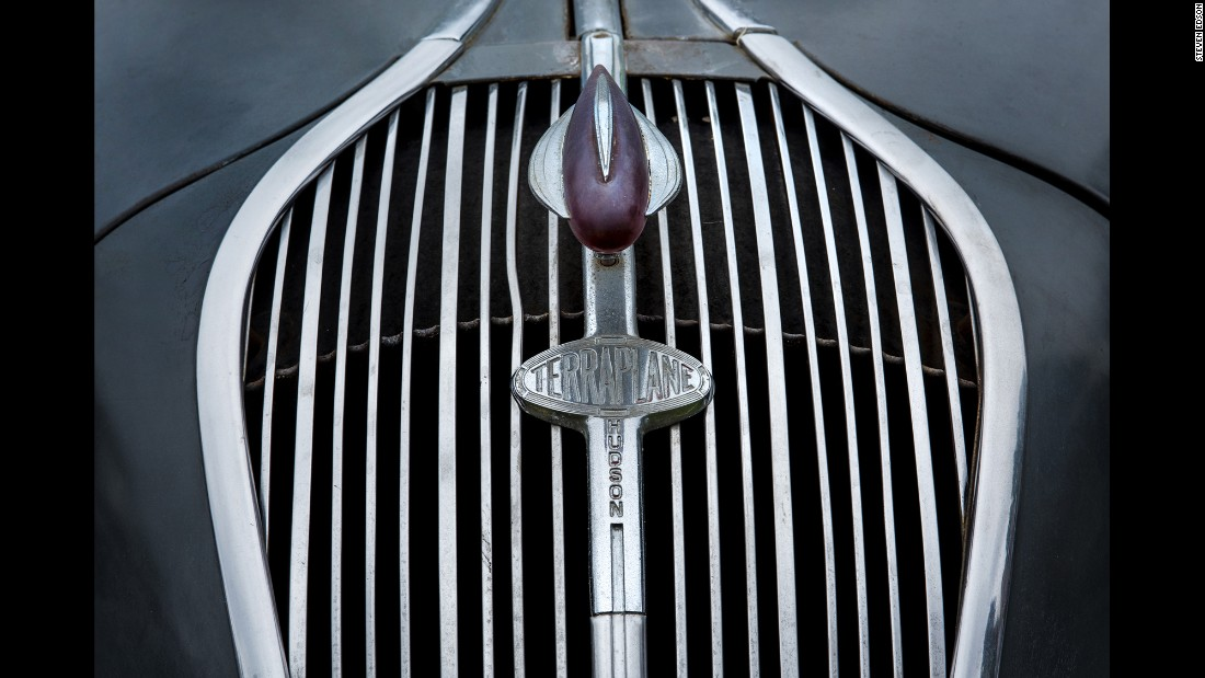 The front grill of an unrestored 1937 Hudson Terraplane