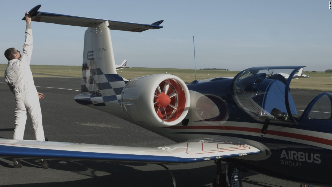 A small combustion engine, fueled by regular avgas, is used only to charge the batteries during the cruise stage of each flight. Range is about 2 hours and 15 minutes.