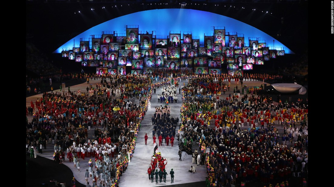 There were more than 200 countries taking part in the opening ceremony.