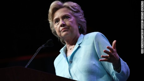 Democratic presidential nominee Hillary Clinton addresses the National Association of Black Journalists and the National Association of Hispanic Journalists August 5, 2016 in Washington, DC.