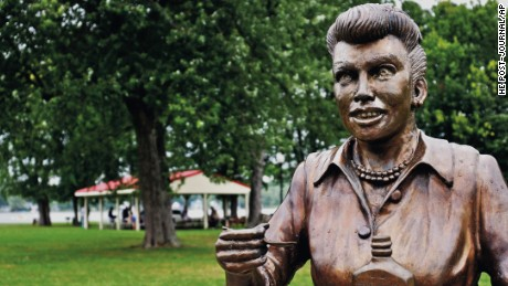 "The previous statue, ""Scary Lucy"""