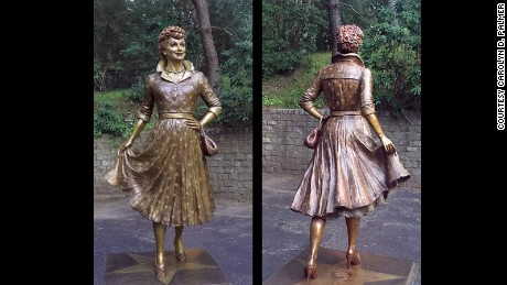 "The new Lucy statue is ""beautiful,"" Celoron Mayor Scott Schrecengost says."