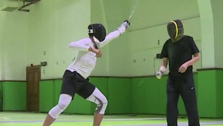 rio egypt olympic fencer lee pkg_00012515