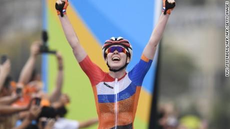 Anna Van Der Breggen of Netherlands wins the women's road cycling race