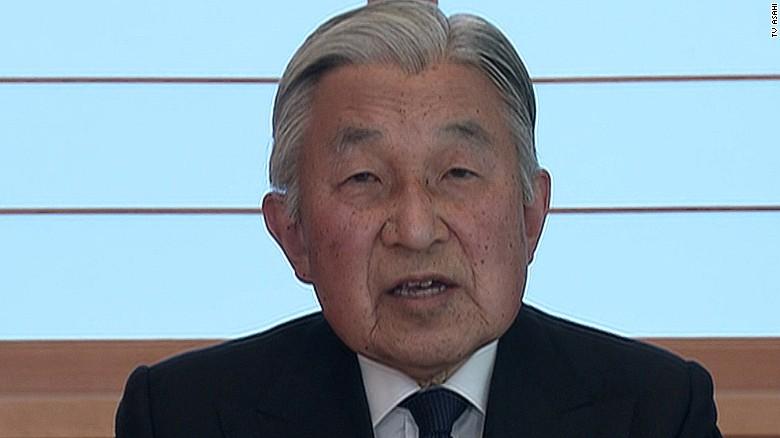 Japan Emperor Akihito delivers historic speech