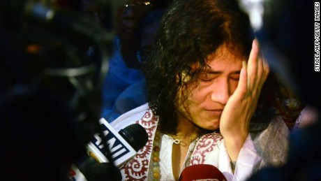 Indian rights activist Irom Sharmila was on a hunger strike for 16 years.