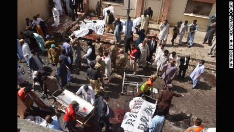 The explosion rocked the emergency ward of the civil hospital.