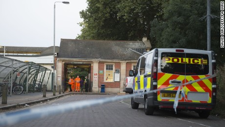 "Man dies after being struck by train after leaning out of window. A police cordon outside Wandsworth Common station, after a man has died after leaning out of a train window and being hit by another train. Picture date: Sunday August 7, 2016. The Gatwick Express passenger was pronounced dead at the scene after the incident at Wandsworth Common station. A spokeswoman for London Ambulance Service said: ""We were called at 5.34pm to reports of an incident at Wandsworth Common railway station. See PA story DEATH Train. Photo credit should read: David Mirzoeff/PA Wire URN:28265679"