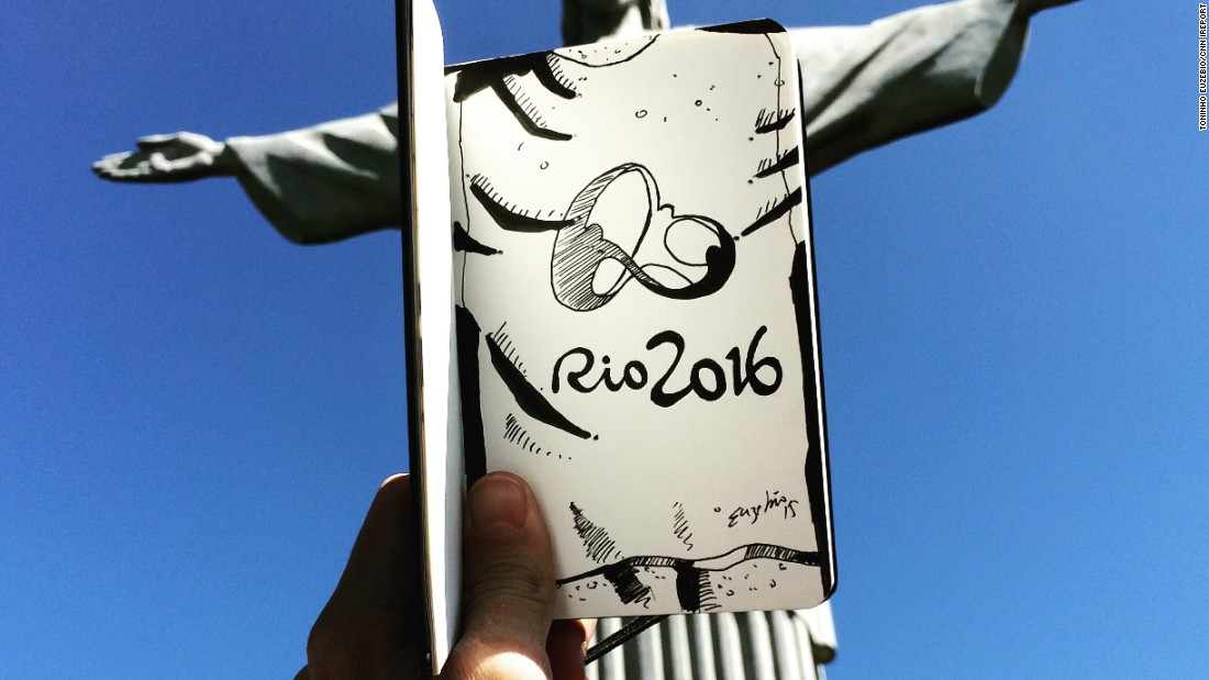 Toninho Euzebio gave the famed Christ the Redeemer statue its own jersey after Brazil won the chance to host the 2016 Olympics.