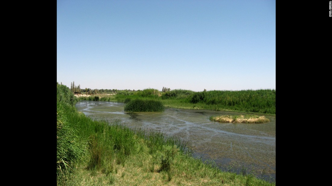The wetlands/reserve in Jordan near Azraq have a lower water table due to development nearby, giving the archeologists access to many new finds.