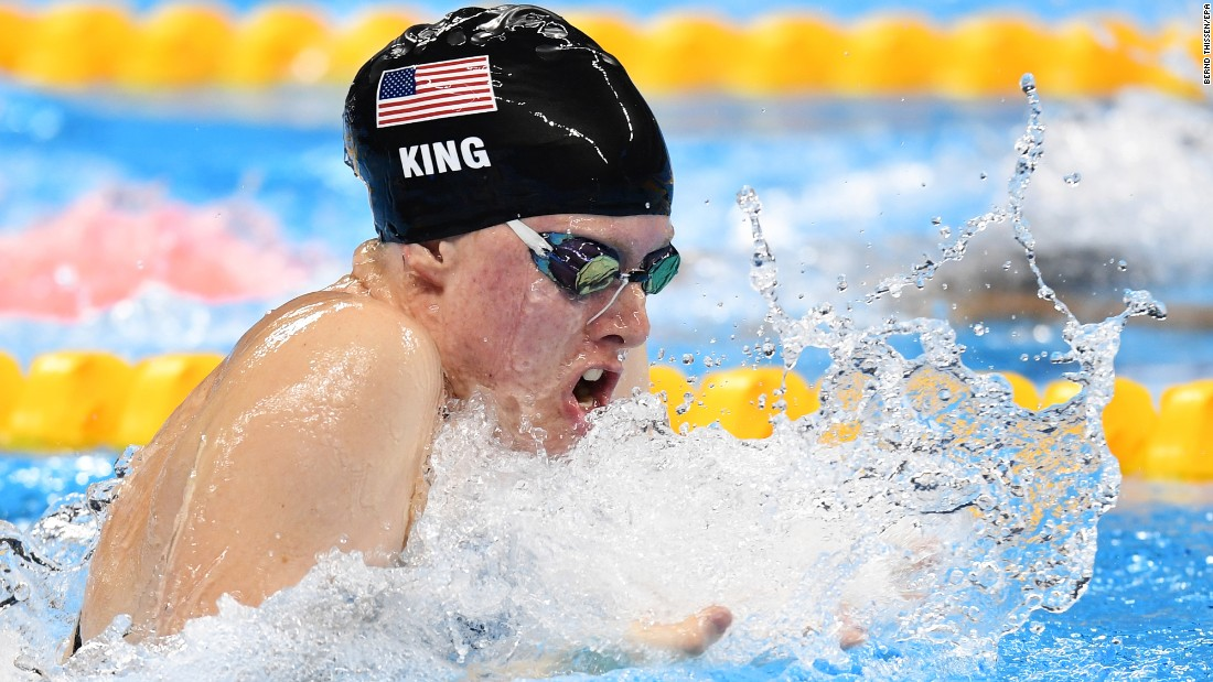 "U.S. swimmer Lilly King set an Olympic record to win gold in the 100-meter breaststroke on Monday, August 8. Leading up to the final, King <a href=""http://www.cnn.com/2016/08/08/sport/rio-olympics-russia-booed-lilly-king-yuliya-efimov/"" target=""_blank"">had called out Russian rival Yulia Efimova,</a> who faced two bans for performance-enhancing drugs before eventually being allowed to swim in Rio. Efimova finished in second place."
