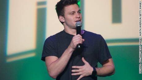 Comedian Jon Rudnitsky performs on stage at Tommy Chong's Birthday Bash at Mack Sennett Studios on May 24, 2016 in Los Angeles, California.  (Photo by Michael Bezjian/Getty Images)