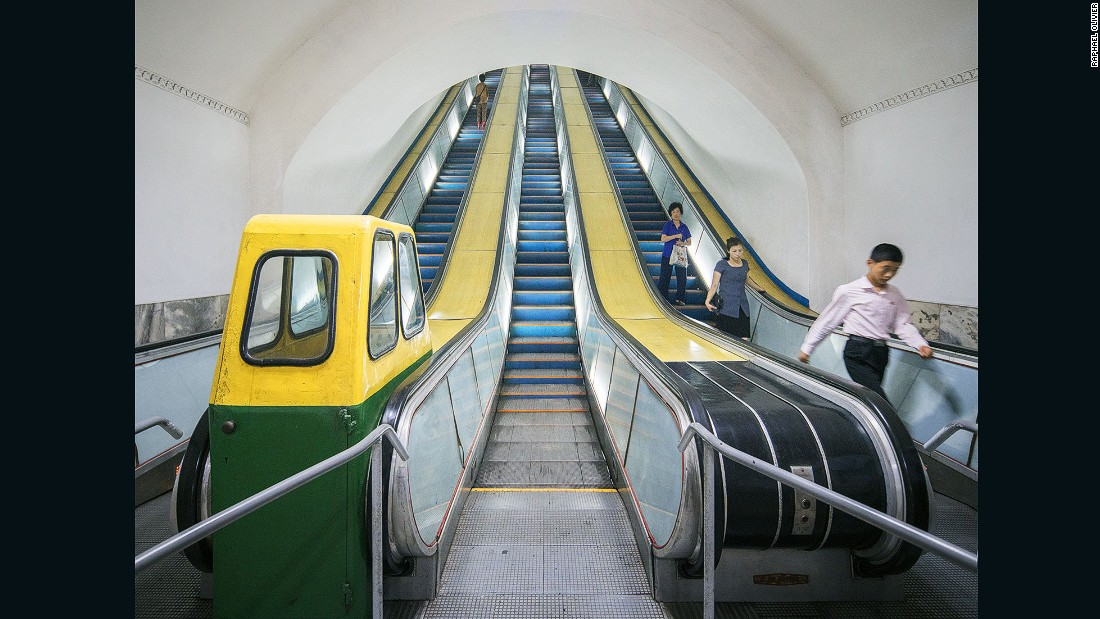 """One of the deepest metro systems in the world, it is accessed by very long and steep escalators. It is also used as a bomb shelter due to its depth."""