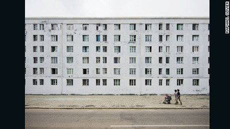 This Raphael Olivier photograph shows an example of a minimal structure built by the Russians after the Korean war. Scroll down for a gallery of Olivier's work.