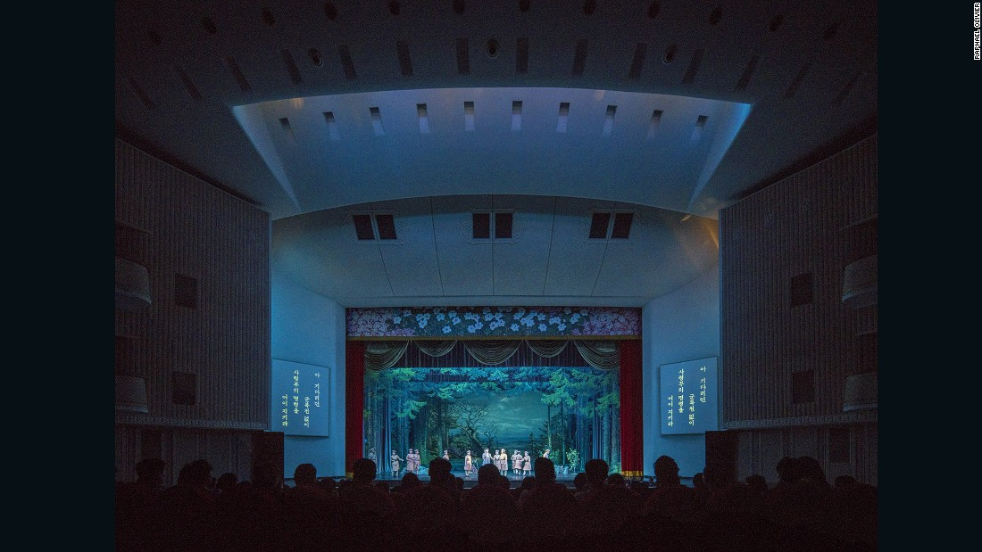"""The North Korean Revolutionary Opera is performed at the Pyongyang Grand Theatre, which exhibits a unique mix of socialist modernist architecture with Korean influences.""<br /><br />To see more of Olivier's work, visit his <a href=""http://www.raphaelolivier.com"" target=""_blank"">website</a>."