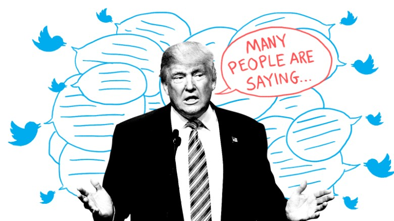 many people are saying trump twitter illustration mullery