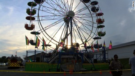 The Ferris wheel at the Greene County Fair and other rides at the fair were closed after the accident.