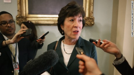 Susan Collins: Trump 'can't set red lines for Bob Mueller'