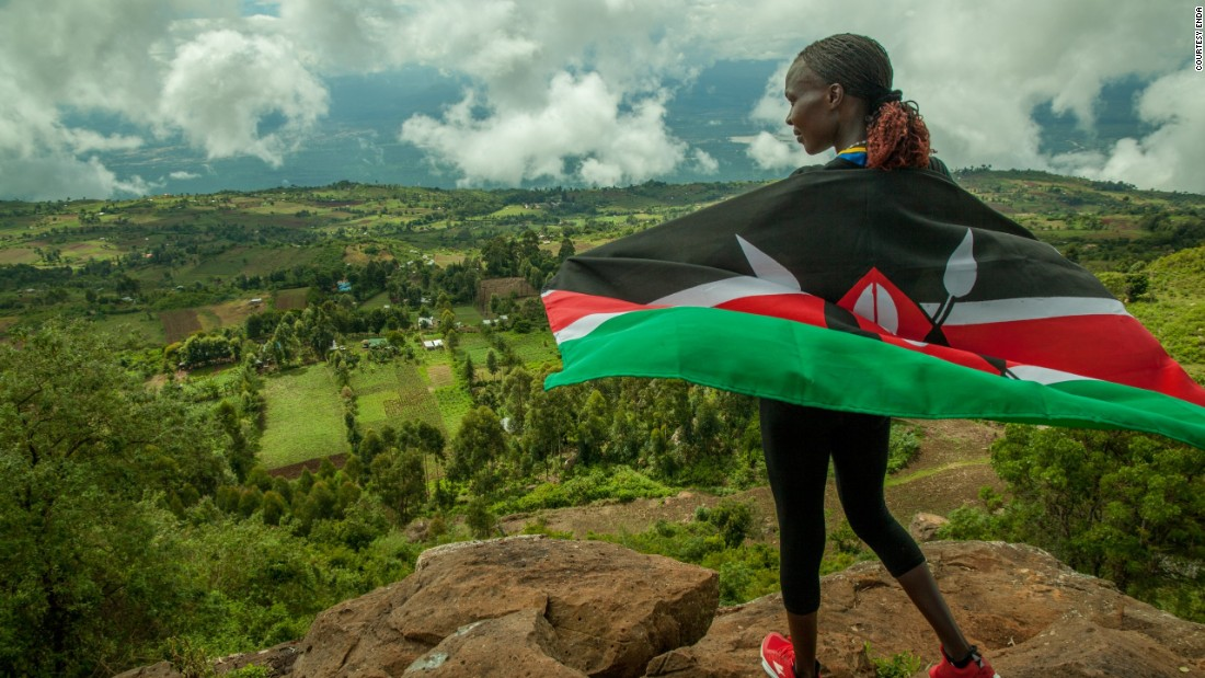 It's thought the Rift Valley's high altitude 8,000m above sea level is partly responsible for Kenya's success in track and field, as the thinness of oxygen pushes lung capacity.