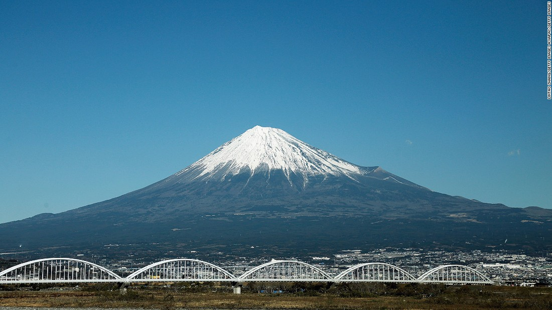Considered a sacred mountain in Japan, Mount Fuji is an active volcano about 100 kilometers from Tokyo. At 3,776 meters high, it's the highest mountain in Japan and makes a dramatic backdrop for many Tokyo photos.