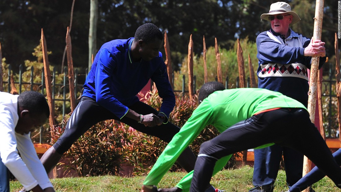 Rudisha trained at the famed running camps of Irish priest Colm O'Connell, pictured right, in Iten. O'Connell is a missionary who arrived in Kenya in the 1970s and became so good at coaching children he was asked to pick the national team.