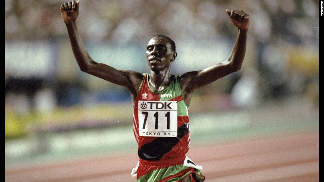 Moses Kiptanui, who was born in the Rift Valley, is a three-time world champion in the 3,000m steeplechase .He set the world record for both the 3,000m and the 3,000m steeplechase in 1992 and won silver at the Atlanta Olympics four years later.