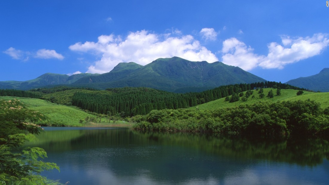 As part of the Aso-Kuju National Park, Mount Kuju is the highest peak on the island of Kyushu.