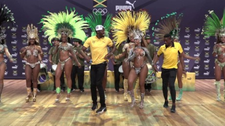 Watch the World's Fastest Man become the Samba King