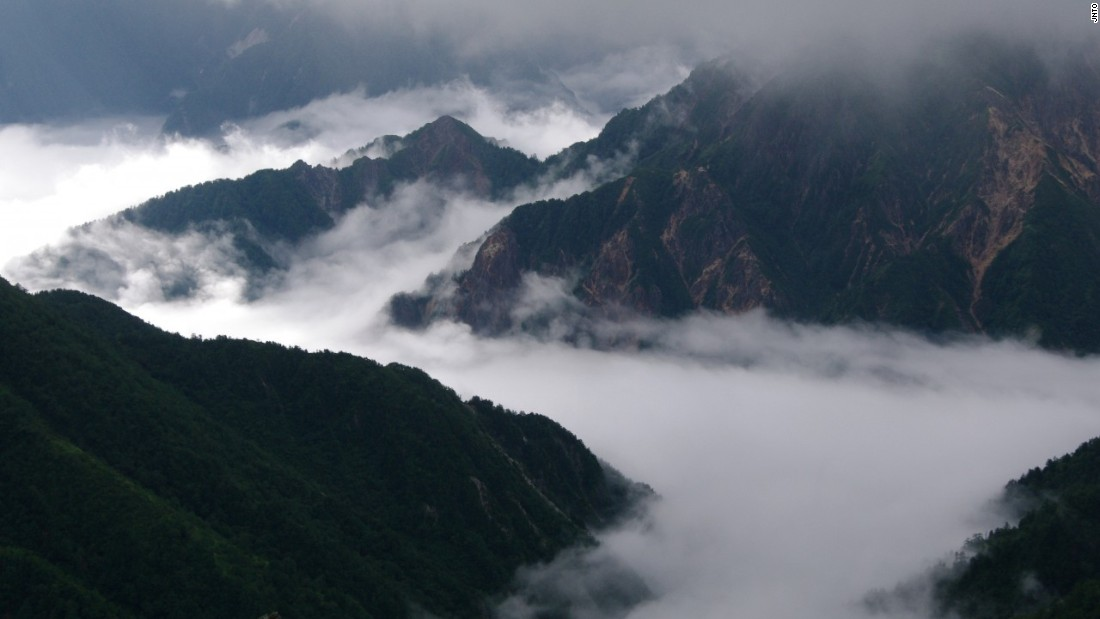 The Northern Alps, or Hida Mountains, join the Central Alps (Kiso Mountains) and Southern Alps (Akaishi Mountains) to collectively form the Japanese Alps.