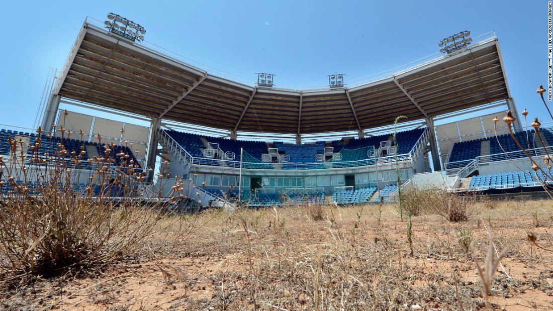Greece spent around $11 billion on the 2004 Athens Games, but a lack of planning led to most of the stadiums falling into disrepair, and in one case providing a homeless shelter.