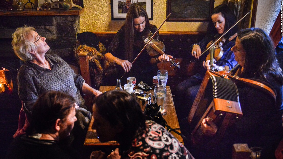 Galway has one of the best live music scenes in Ireland, with traditional music a fixture in many pubs. Molly's pub, in the nearby village of Letterfrack, is pictured.