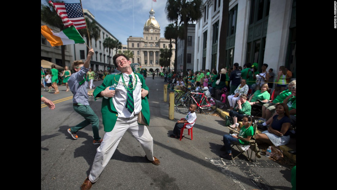 The southern US city of Savannah is known for its annual St Patrick's Day celebrations, which claims to be the second-largest in the country, with more than 300,000 attending.