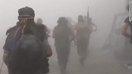 New footage shows intense firefight in Syria