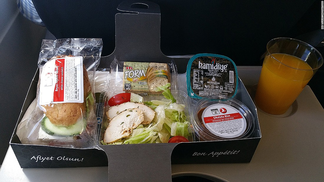 """[Turkish Airlines] meals are always on point, delicious and there's plenty of it, even on short flights."""
