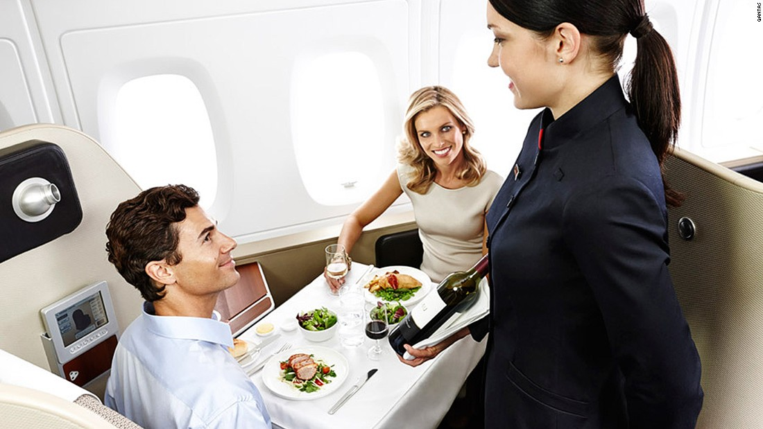 """I think some of the best wines in the world come from [Australia] -- call me biased -- and Qantas has some of the best wine experts and mixologists from Rockpool deciding on what wines to serve you in-flight,"" says Loukas. Wines served in-flight are available for purchase on the airline's EpiQure website. <br />"