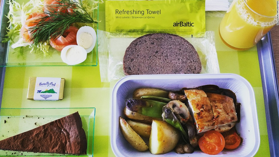 "Air Baltic's create-your-own-meal-tray food ordering system wins when it comes to in-flight meal innovation. ""Passengers can select everything they want to eat on their upcoming flight, right down to the salad and dessert. It's a fantastic meal concept that really lets you choose what you want to eat in-flight (at a cost of course)."""