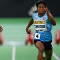 Dutee Chand competing