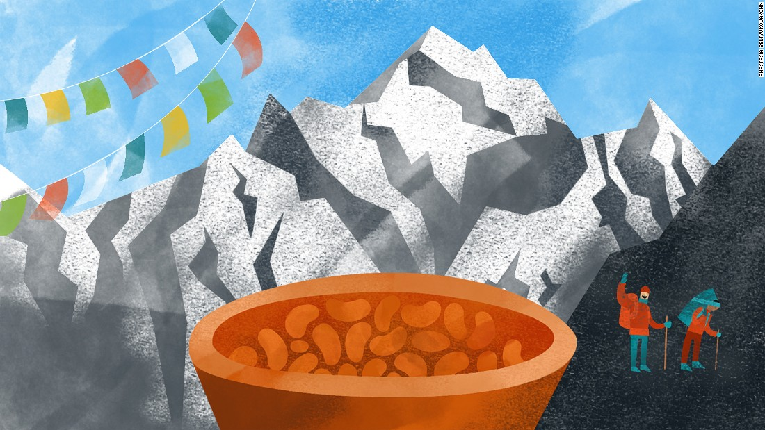 A plate of baked beans is an unlikely contestant for the most memorable food awards, but it's the one meal Phoebe Smith, editor of Wanderlust travel magazine, will never forget. It's the dish she was served at Everest Base Camp after a harrowing 12-day hike.