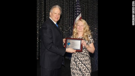 Robin Abel receives the National Safety Award.