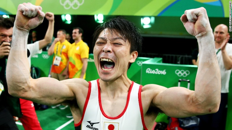 Japan's Uchimura, US's Ledecky thrill fans