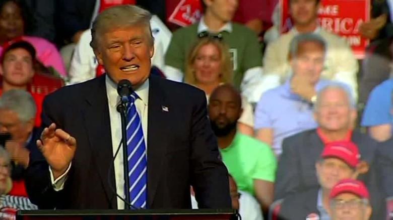 ex congressman sits behind trump at rally berman sot ac_00005103
