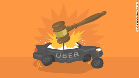cnn money uber lawsuits