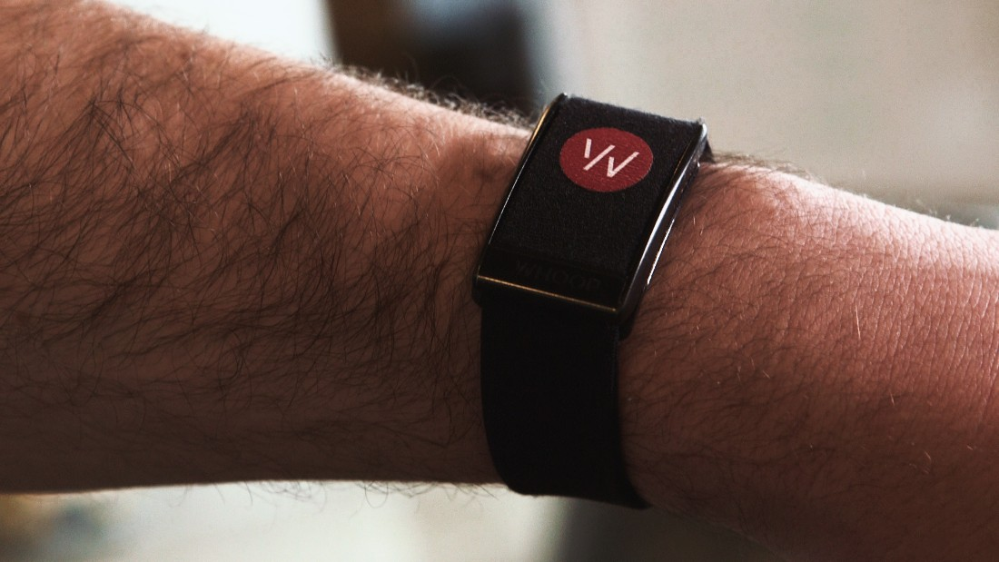 Worn on the wrist, WHOOP monitors an athlete's heart rate, ambient temperature, accelerometry and other vitals 100 times a second.