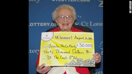 Ursula McCafferty has big plans for her lottery winnings.