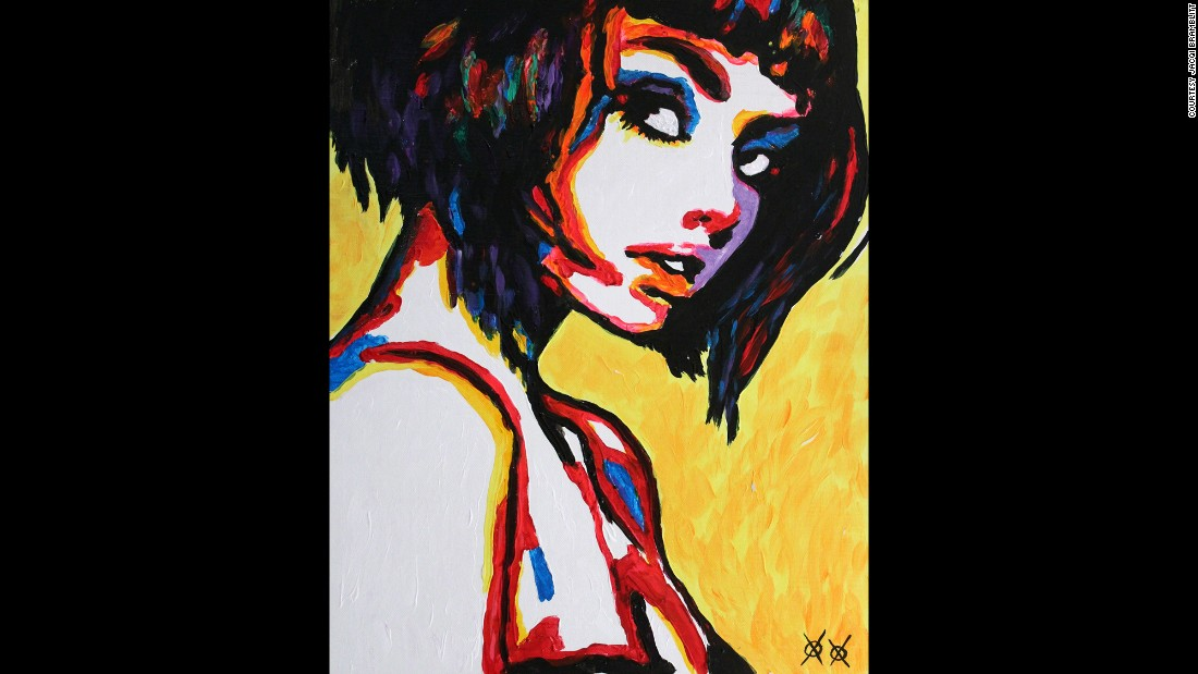 """The Look"": ""I love to paint all kinds of people doing all kinds of things, but I'm often drawn back to the simple lines and composition of a portrait. The fewer lines the better, just enough to guide the mind so that it understands the shape and form, and then lets the color come in and fill in the emotion."""